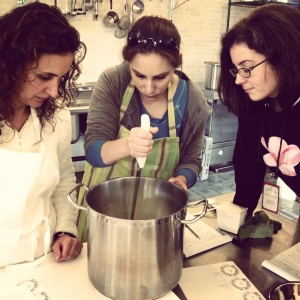 3 ladies cheesemaking